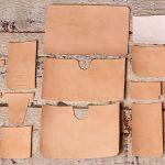 ヌメ革二つ折り財布、制作レポート